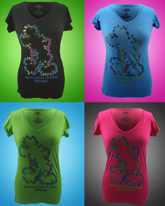 'Mickey Bulb' Tee-Shirts from the 'Holiday Brights' Collection