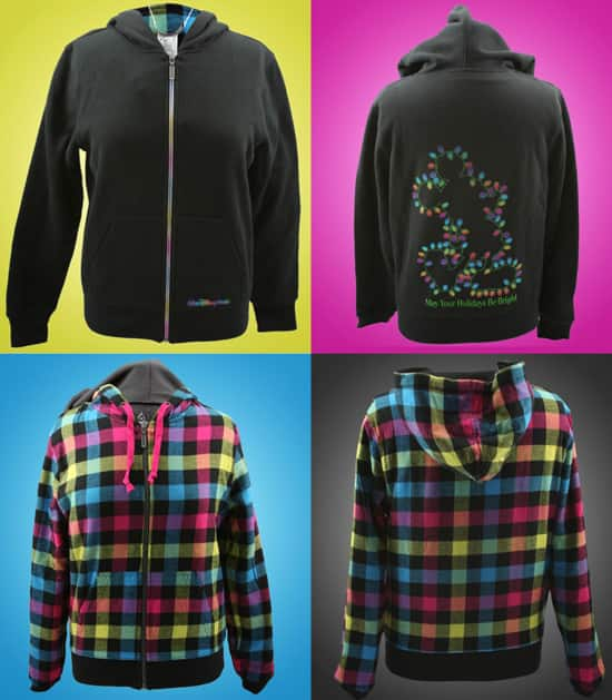 'Mickey Bulb' and Buffalo Plaid Hoodies from the 'Holiday Brights' Collection