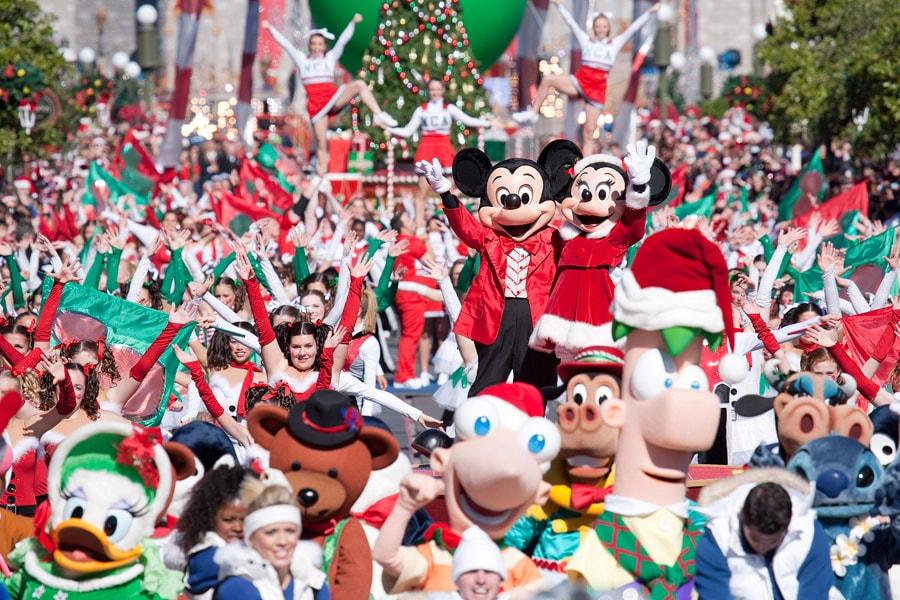 disney parks christmas day parade tv taping at the magic kingdom - Disney Christmas Day Parade