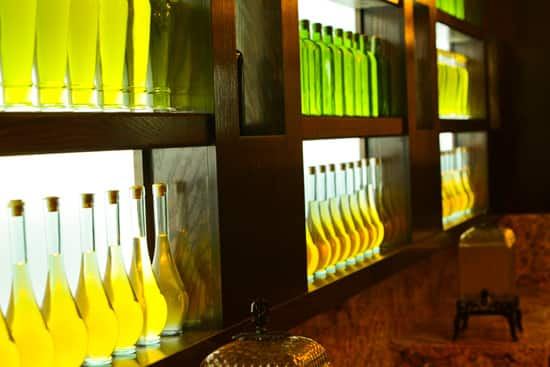 Olive Oil Display in the Main Dining Room of Kouzzina by Cat Cora