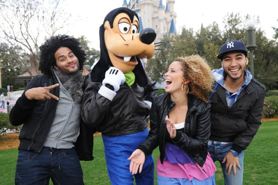 Blanca, Manwell and Pablo with Goofy