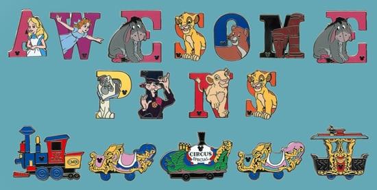 New Alphabet Series Hidden Mickey Pins for Disneyland Resort