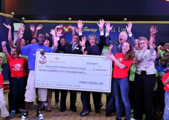 President Karl Holz presented Boys & Girls Clubs of Central Florida with a check for $750,000