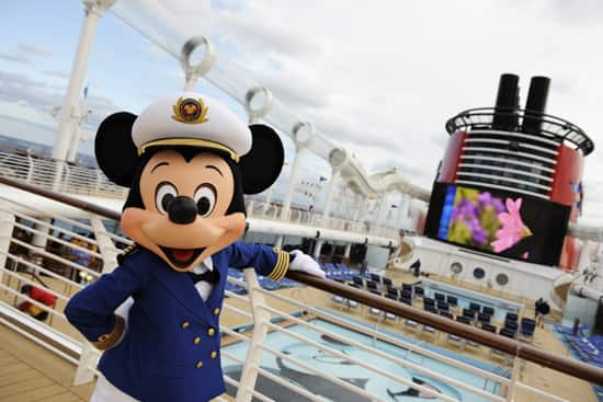 Mickey Mouse on the Disney Dream Pool Deck