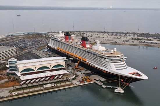 Disney Dream Docked in Port Canaveral, Florida