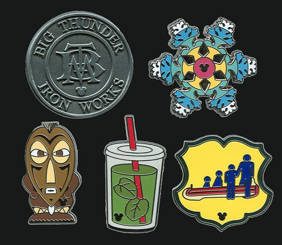 New Hidden Mickey Pins Featuring Some Favorite Disneyland Icons