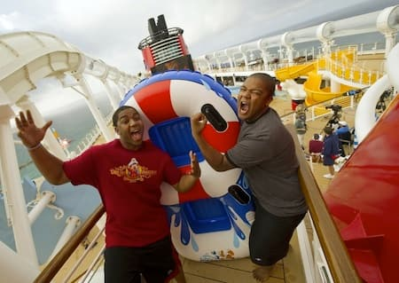 Kyle and Christopher on AquaDuck
