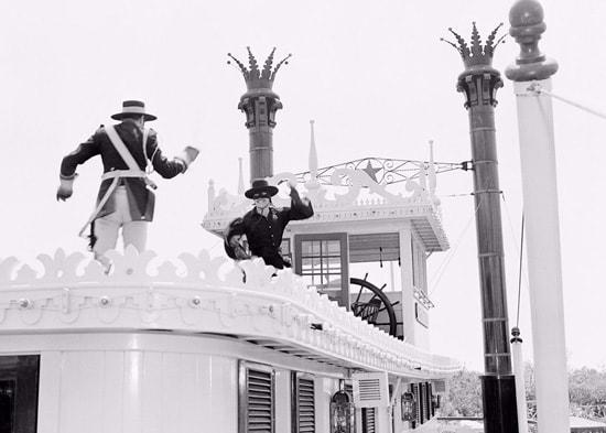 Guy Williams Visits Disneyland Park in April 1958