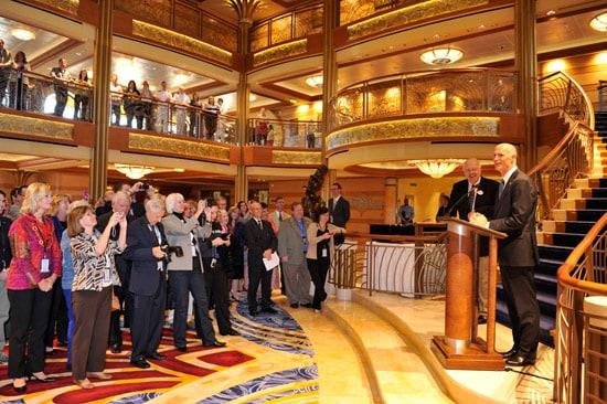 Disney Dream Commemorates Maritime Plaque Exchange with Governor