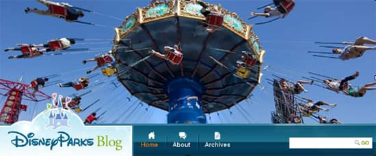 New Images at the Top of Disney Parks Blog