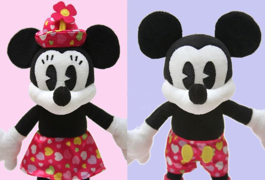 Mickey And Minnie Valentines Day Plush