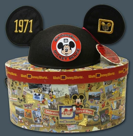 40th Anniversary Ear Hat and Box