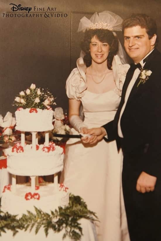Bob and Maurita's Wedding Day in 1985