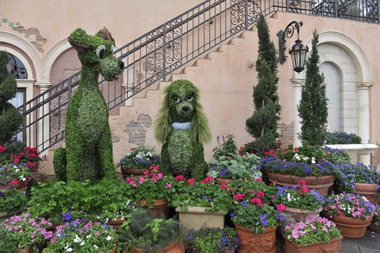 Italy Pavilion Decorated for the Epcot International Flower and Garden Festival
