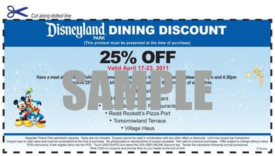 Disneyland Resort Dining Discount