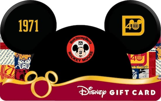 The 40th Anniversary Mickey Ear Hat Card