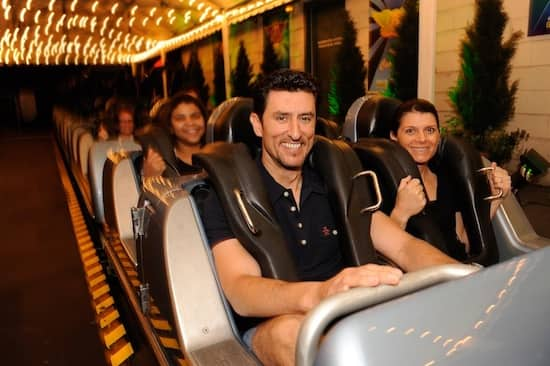 Some Fans Rode the Rock 'n Roller Coaster with Mia Hamm