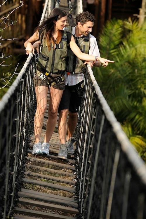 "Reality Stars Ethan Zohn of ""Survivor Africa"" and Jenna Morasca of ""Survivor Amazon"" on the Wild Africa Trek at Disney's Animal Kingdom"