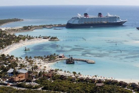 The Disney Dream Docks at Disney's Private Island Paradise, Castaway Cay.
