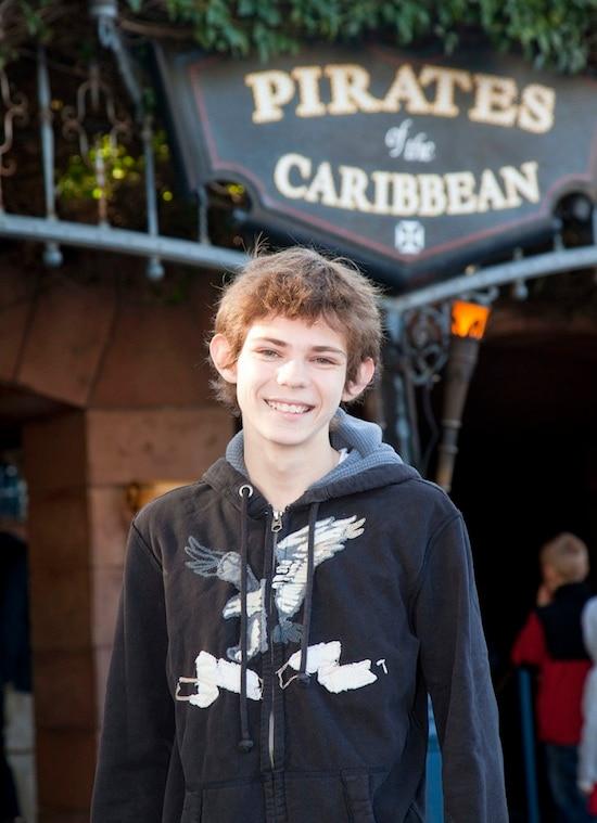"Robbie Kay, Youngest Cast Member of ""Pirates of the Caribbean: On Stranger Tides"" Visits Disneyland Park"