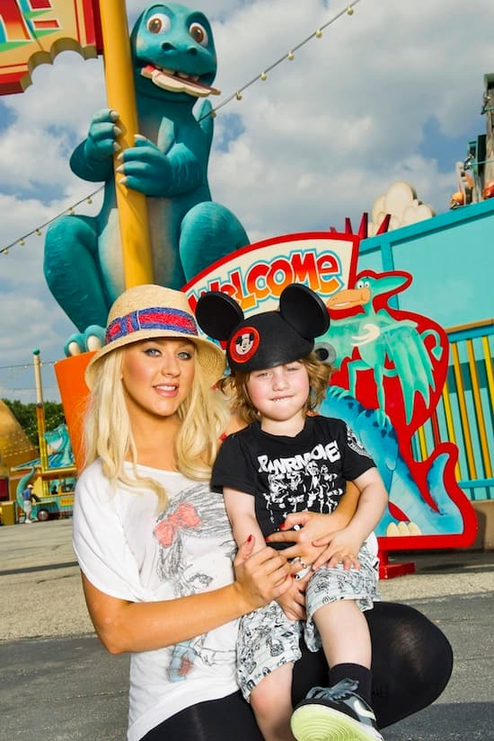 Christina Aguilera Visited Walt Disney World Resort with Her Son Max