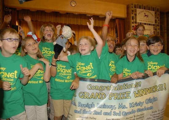 Second and Third Graders From Louisiana Win Disney's Planet Challenge and Trip to Disneyland