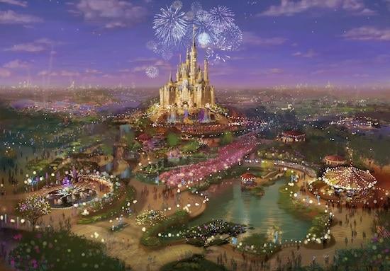Art Rendering of Shanghai Disney Resort