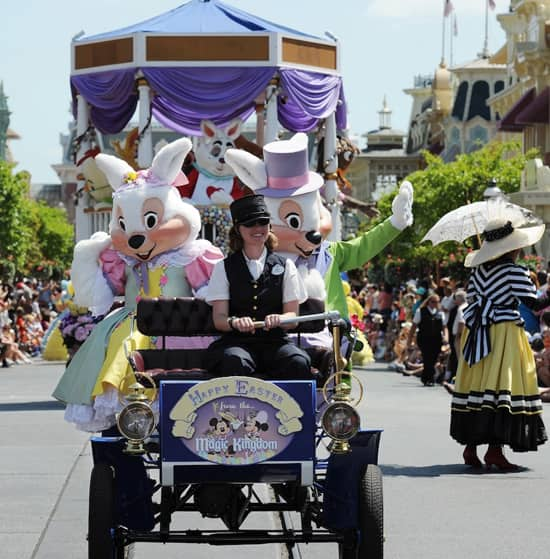 Easter Bunny and His Wife, Mrs. Bunny at Walt Disney World Resort