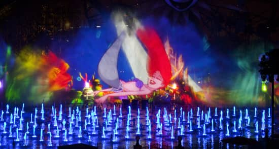 Enjoy 'World of Color' from Ariel's Grotto at Disney California Adventure Park