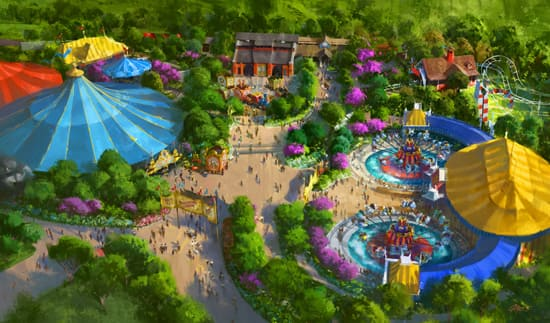Rendering of Storybook Circus as Part of the New Fantasyland Update at Magic Kingdom Park