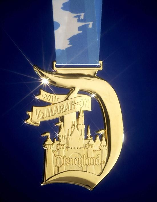 Medal for Disneyland Half Marathon Finishers