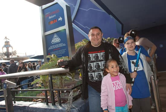 Star Tours Fans, Samantha and Her Father, Ramon