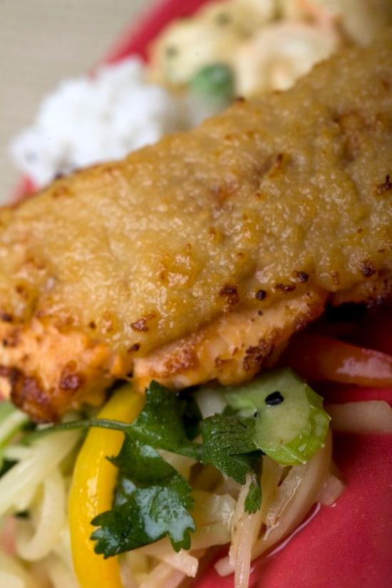 The Miso-Crusted Salmon Dish at Tangaroa Terrace – Casual Island Dining