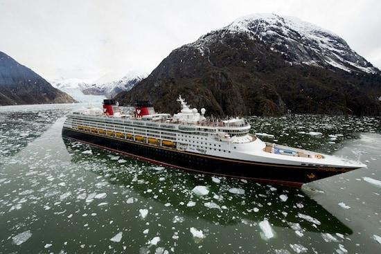 Disney Wonder Cruises through Tracy Arm Fjord during Inaugural Alaskan Voyage