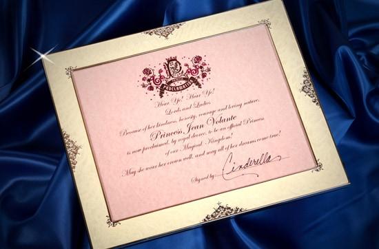 Personalized Princess Proclamation