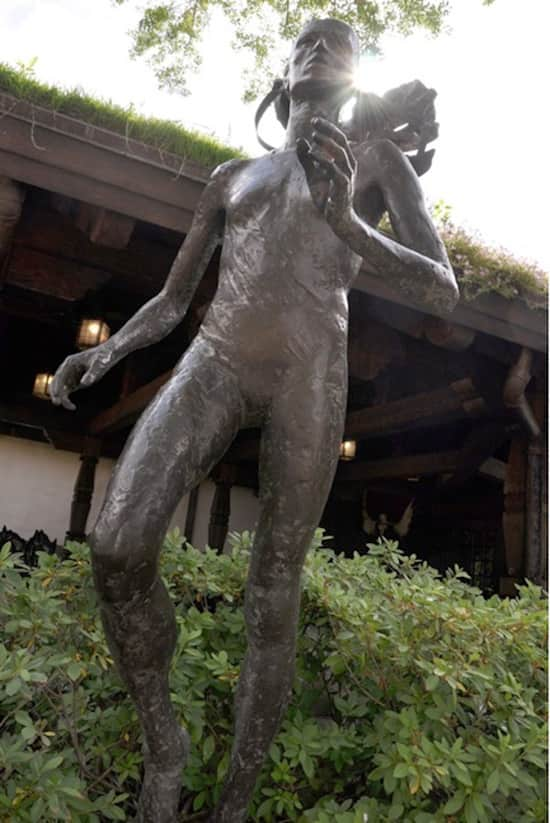 Bronze Sculpture of Grete Waitz in the Norway Pavilion at Epcot