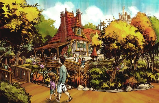 Artist Rendering of Maurice's Cottage as Part of the Fantasyland Expansion at Magic Kingdom Park