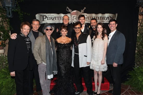 Cast and Producers at the World Premiere of 'Pirates of the Caribbean: On Stranger Tides' at Disneyland Park