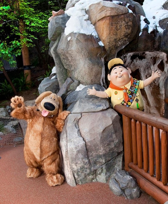 New Characters, Russell and Dug, at Disney California Adventure Park