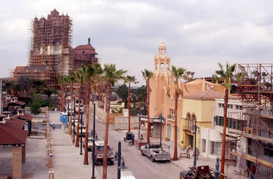 Sunset Boulevard Under Construction at Disney's Hollywood Studios