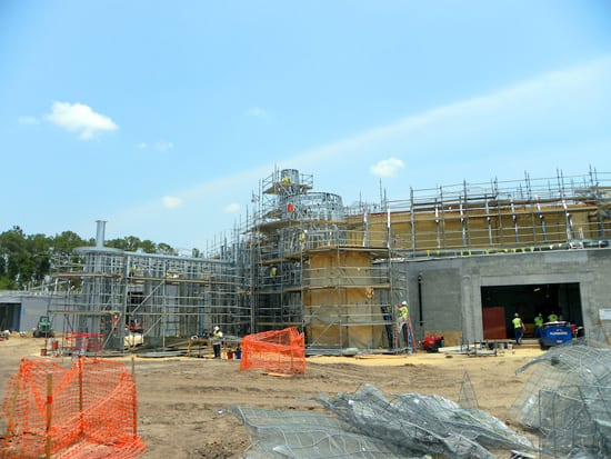 Construction of Under the Sea - Journey of the Little Mermaid Attraction