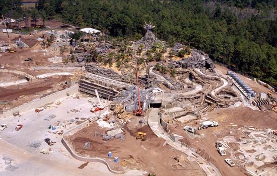 Disney's Typhoon Lagoon Construction Progress in March 1989