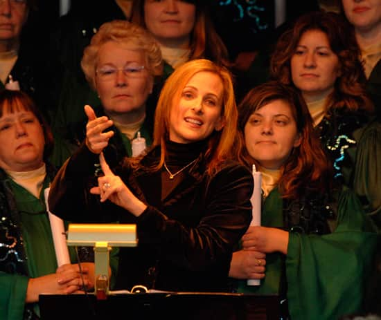 Marlee Matlin at Epcot's Candlelight Processional