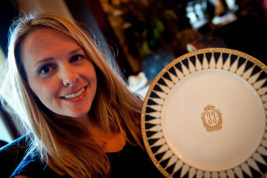 Jen in Club 33 at Disneyland Park