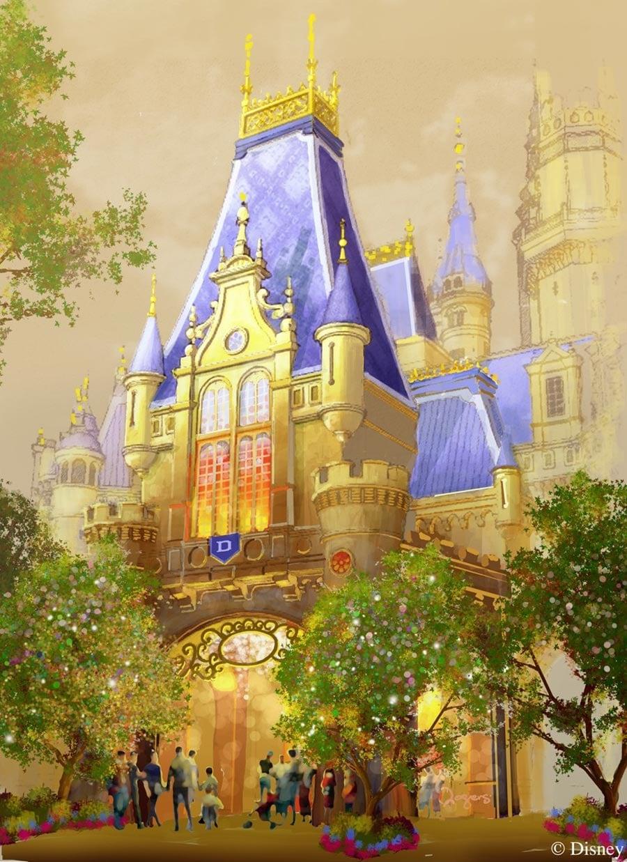 Sneak Peek Enchanted Storybook Castle At Shanghai Disneyland Disney Parks Blog