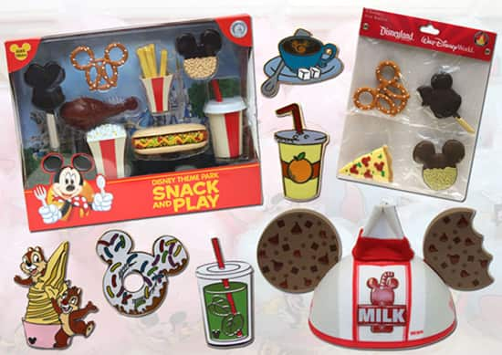 Disney Parks Snack and Play Pin Sets