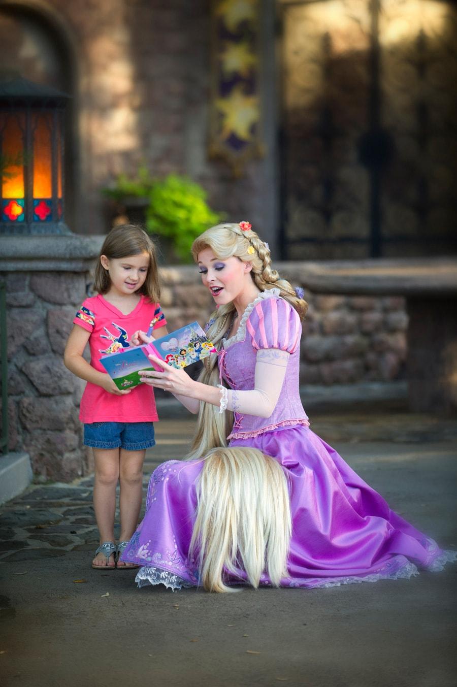 Two princesses meet at magic kingdom park disney parks blog ava meets rapunzel at magic kingdom park m4hsunfo