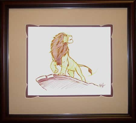 Simba Artist Sketch at the Disneyland Resort