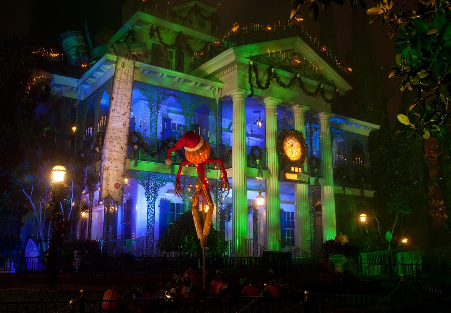 haunted mansion holiday at disneyland park - Haunted Mansion Nightmare Before Christmas