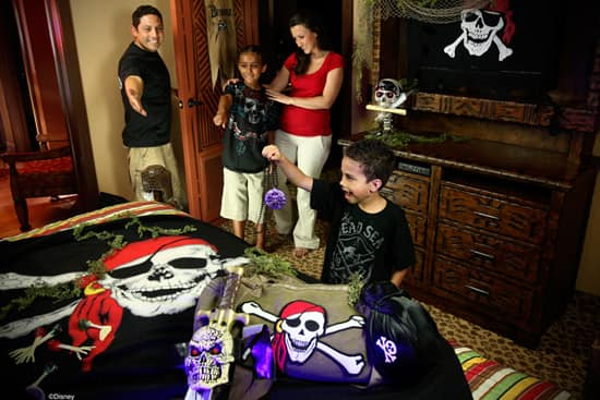A Pirate Adventure Prepared by Jack Sparrow in your Walt Disney World Resort Room